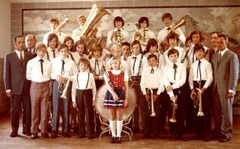Jugendkapelle in Gründungsbesetzung 1968